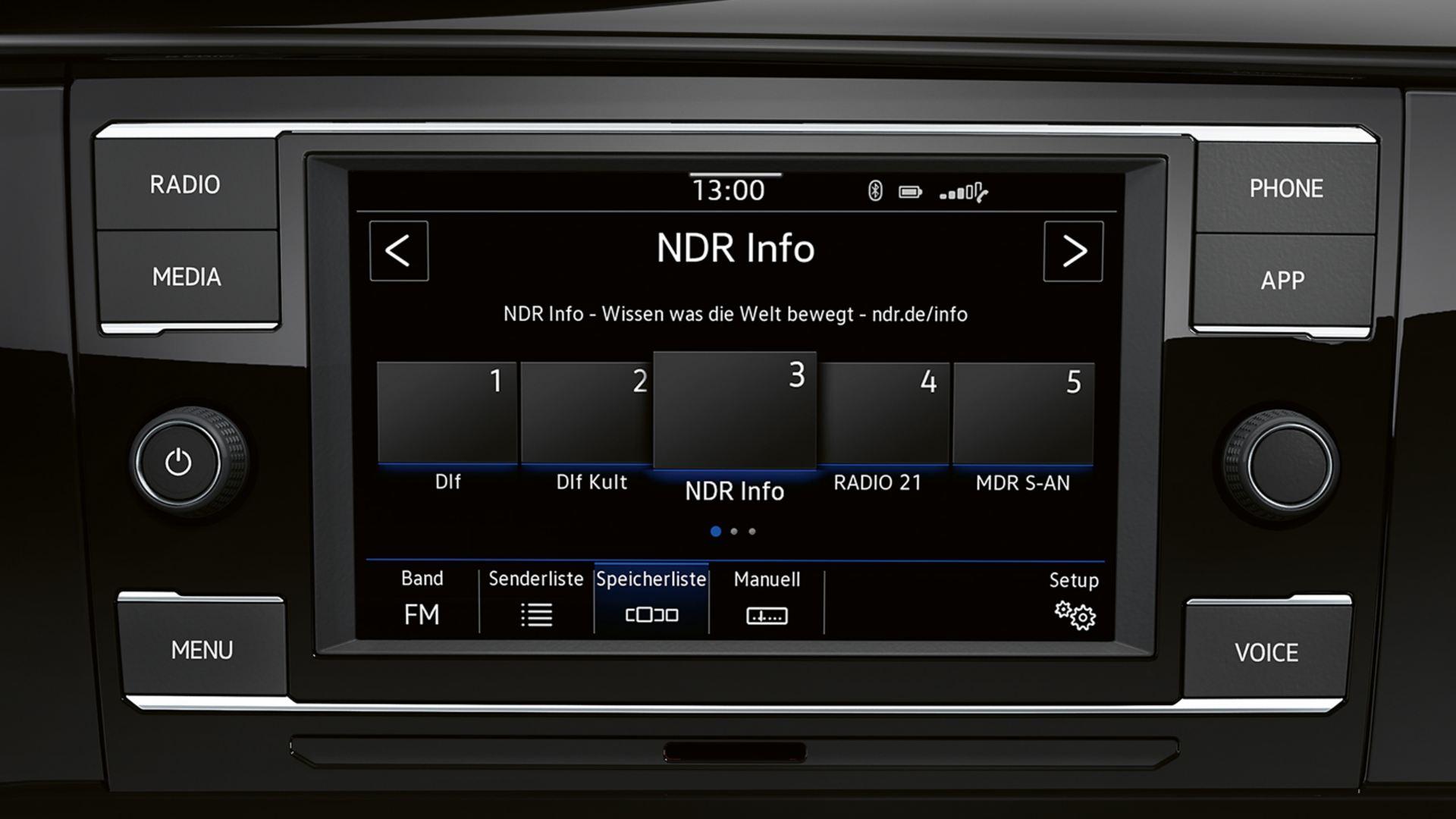"Radiosystem ""Composition Colour"" auf dem Display des VW Multivan 6.1"