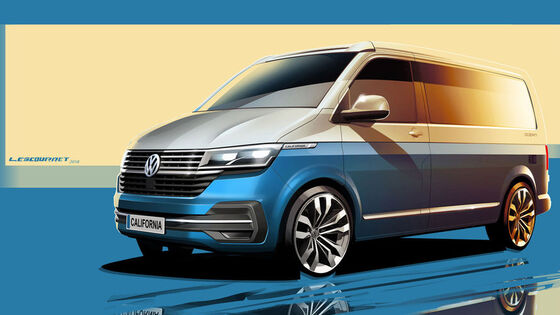 VW California T6.1 Designskizze